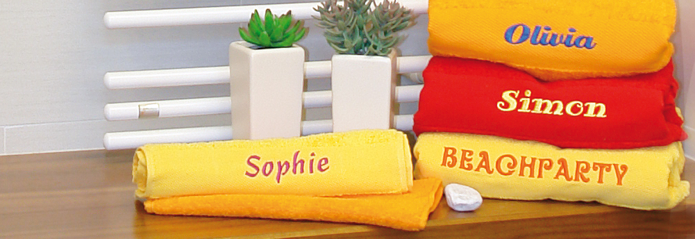 Handtücher besticken & Frottee & Fleece