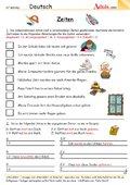 zeitformen arbeitsbl228tter deutsch grammatik