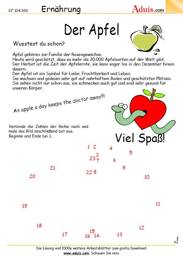 Pflanzen - Obst und Gemüse - Arbeitsblätter | Biologie