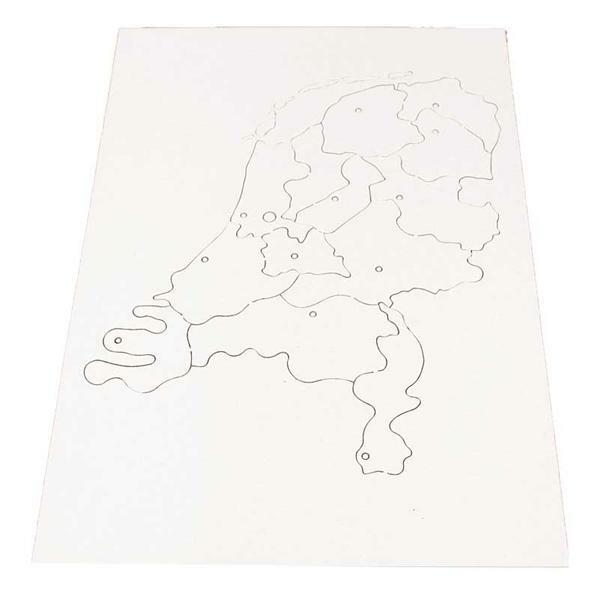 puzzle pappkarton provinzen der niederlande. Black Bedroom Furniture Sets. Home Design Ideas
