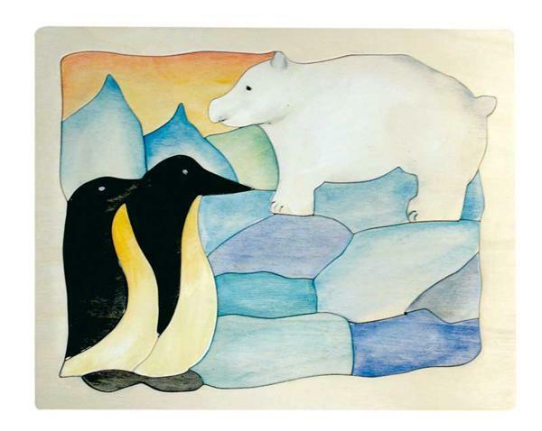 puzzle eisb r und pinguin bauanleitung werkpackungen von 7 12 jahren. Black Bedroom Furniture Sets. Home Design Ideas