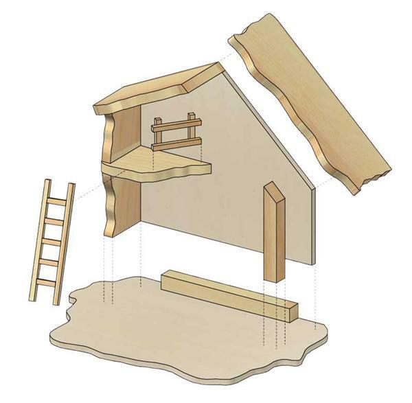 Bau- & Konstruktionsspielzeug-Sets Weihnachtskrippe teifoc