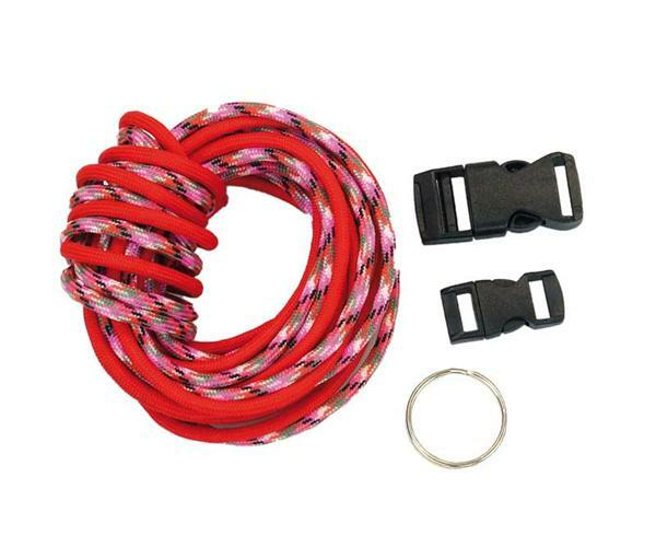 Paracord Starterset - 4 mm, rot