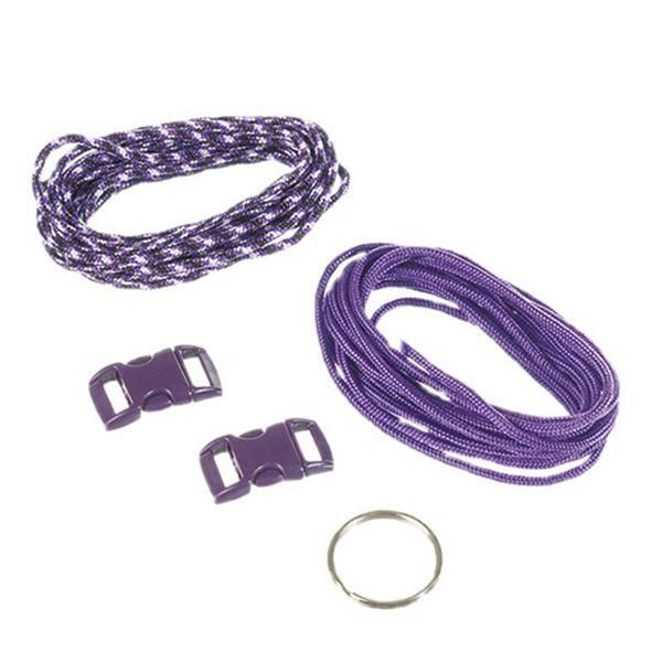 Paracord Starterset - 2 mm, lila
