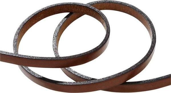 buy popular 2e010 dc35b Lederband flach - 5 mm, 80 cm, braun