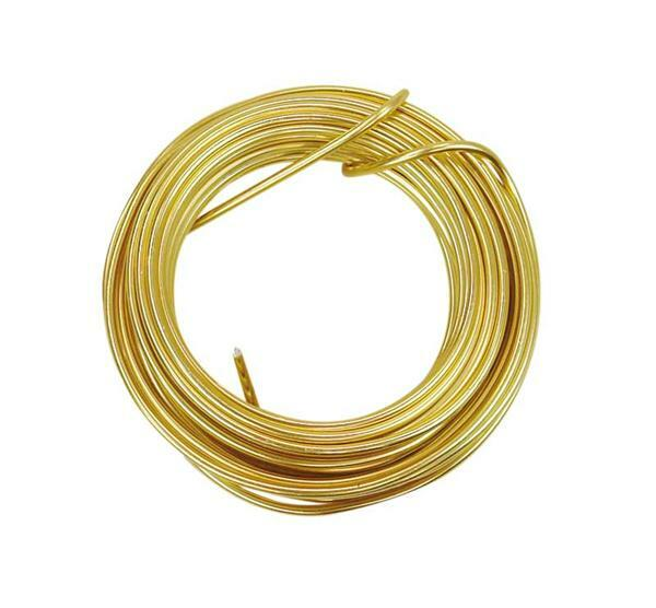 Aludrahtring ca. 5 m - Ø 2 mm, gold