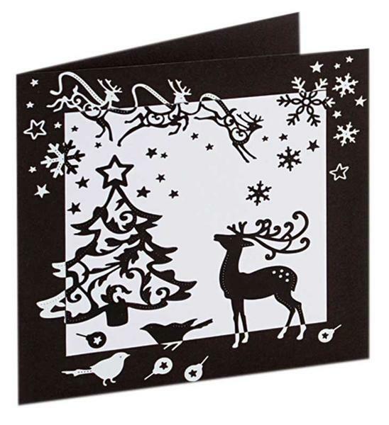 sticker schwarz wei weihnachten papier und karton. Black Bedroom Furniture Sets. Home Design Ideas
