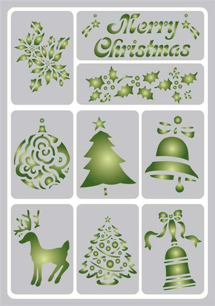 schablone a5 selbstklebend weihnachten malen. Black Bedroom Furniture Sets. Home Design Ideas