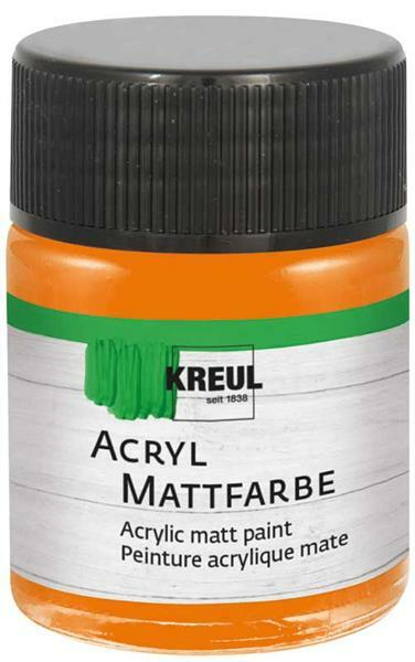 Acryl Mattfarbe - 50 ml, orange