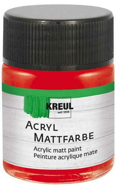 Acryl Mattfarbe - 50 ml, brillantrot
