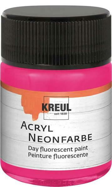 Acryl Neonfarbe - 50 ml, neonpink