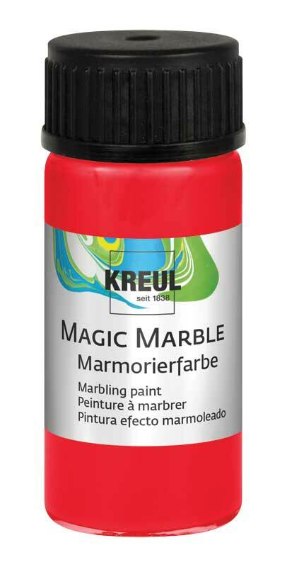 marmorierfarbe magic marble 20 ml rot kreatives. Black Bedroom Furniture Sets. Home Design Ideas