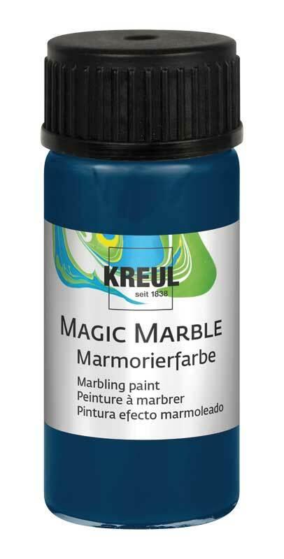 marmorierfarbe magic marble 20 ml dunkelblau. Black Bedroom Furniture Sets. Home Design Ideas