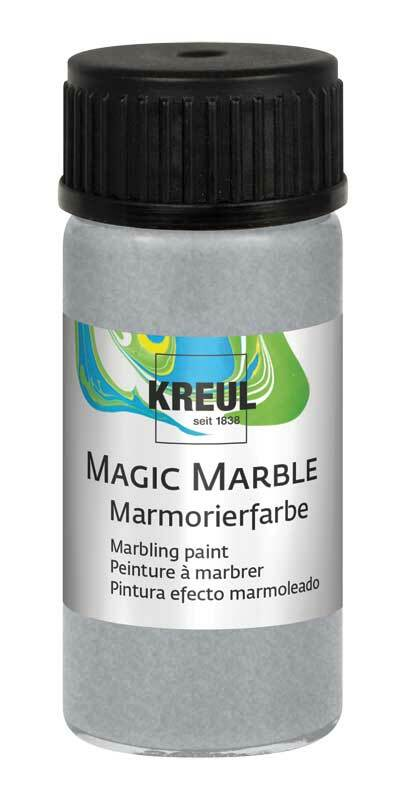 marmorierfarbe magic marble 20 ml silber kreatives. Black Bedroom Furniture Sets. Home Design Ideas