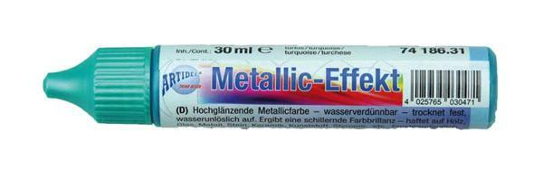 Metallglanz Effektcolour - 30 ml, türkis