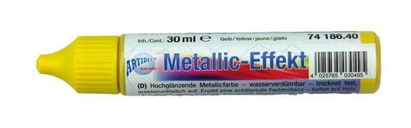 Metallglanz Effektcolour - 30 ml, gelb