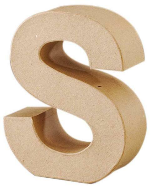 pappmache buchstabe s papier und karton pappmache. Black Bedroom Furniture Sets. Home Design Ideas