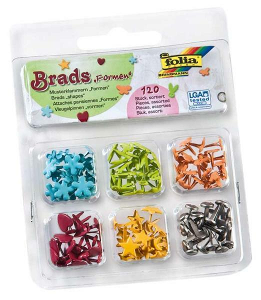 Musterbeutelklammern basteln  Brads - Musterbeutelklammern, Formen - Papier und Karton ...