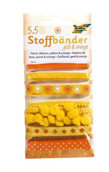 Stoffbänder - gelb & orange