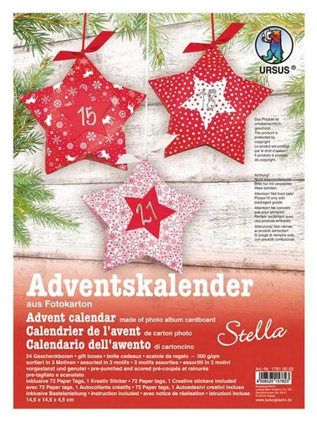 Adventskalender Set - Sterne