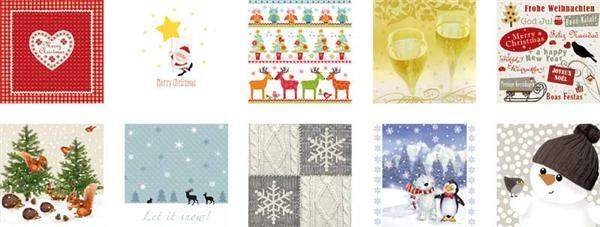 Servietten Mischpackung, Winter & Weihnachten - Papier und Karton ...