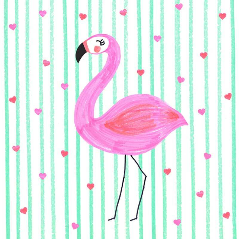 Servietten - 20 Stk./Pkg., Flamingo