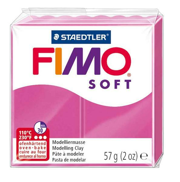 Fimo Soft - 57 g, himbeere