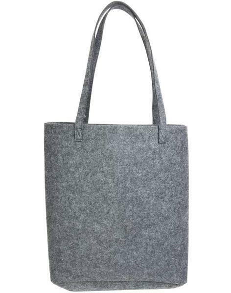 Filztasche - 37 x 12 x 40 cm, Stärke 3 mm, grau online kaufen | Aduis