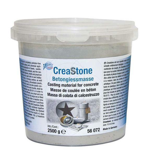 creastone betongie masse 2500 g kreatives gestalten reliefgie en beton gie en. Black Bedroom Furniture Sets. Home Design Ideas