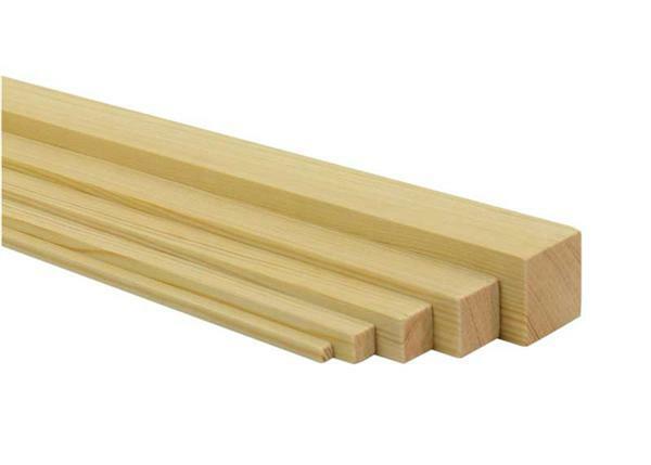 Holzleiste Kiefer 50 Cm 1 X 1 Cm Online Kaufen Aduis