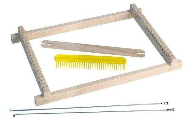 webrahmen f r kinder 17 cm stoff seide garn wolle wolle h kelgarne webrahmen. Black Bedroom Furniture Sets. Home Design Ideas