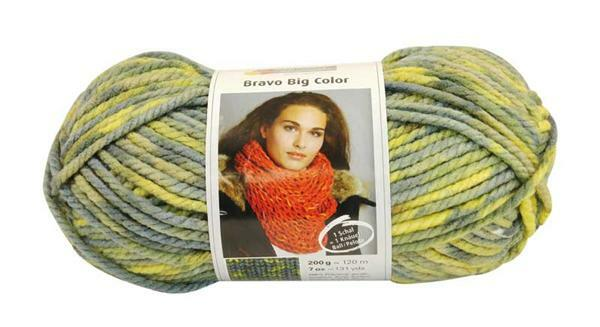 Wolle Bravo Big Color - 200 g, nil