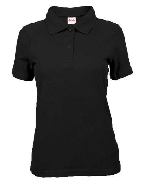 Polo-Shirt Damen - schwarz, XL